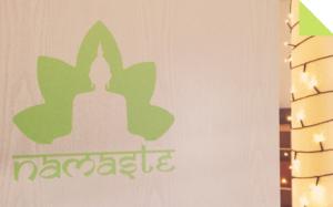 Türeingang Yogaraum
